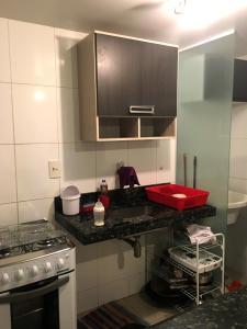 A bathroom at Apartamento Beira Mar