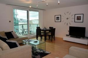 Zona de estar de River Thames View Apartment