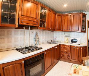 Кухня или мини-кухня в Domumetro na Chasovoy
