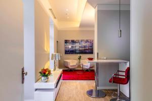 Küche/Küchenzeile in der Unterkunft Amalienhof Serviced Apartments