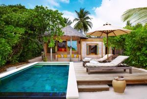 The swimming pool at or near Six Senses Laamu