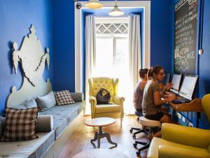 Coin salon dans l'établissement Goodmorning All-Inclusive Hostel