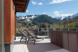 A balcony or terrace at Sport Chalet Maria Alm