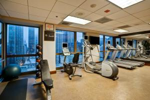 The fitness center and/or fitness facilities at Homewood Suites by Hilton Chicago-Downtown