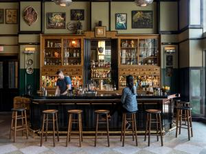 The lounge or bar area at Ace Hotel New Orleans