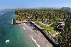 A bird's-eye view of Candi Beach Villas