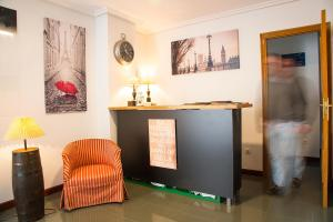 The lobby or reception area at Alojamiento Miramar
