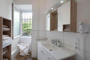 A bathroom at Ferienwohnung