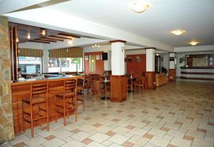 The lobby or reception area at Ekali Hotel
