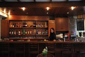 The lounge or bar area at Ekali Hotel