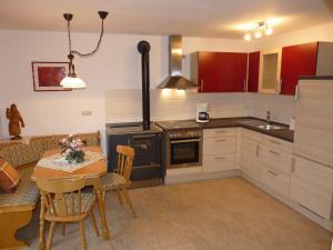 Küche/Küchenzeile in der Unterkunft Ferienwohnung Hutterer