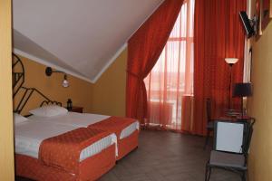Кровать или кровати в номере Bike Hotel
