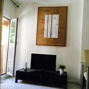 Una televisión o centro de entretenimiento en Nuño Gomez Apartment