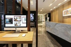 The lobby or reception area at Miller Inn