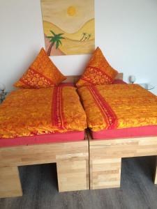 Ein Bett oder Betten in einem Zimmer der Unterkunft Pension Rammert