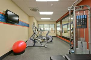 The fitness center and/or fitness facilities at Hampton Inn & Suites Frederick/Fort Detrick