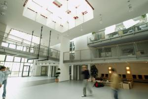 The lobby or reception area at Jugendherberge Köln-Deutz