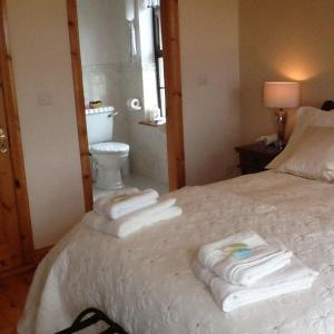 A bed or beds in a room at Clonoughter Heights