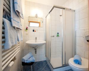 A bathroom at Pension Haus Eden