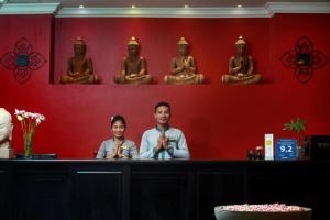 El vestíbulo o zona de recepción de Khmer Mansion Boutique Hotel