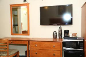 A television and/or entertainment center at JFK Inn