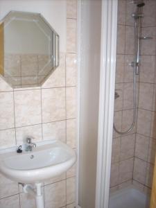 A bathroom at Penzion restaurace U Racaku