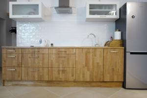 Kuchnia lub aneks kuchenny w obiekcie Apartment In the Heart of Warsaw