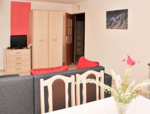 Telewizja i/lub zestaw kina domowego w obiekcie Apartament Pod Łanem