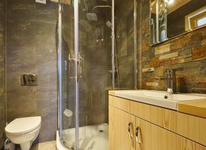 Łazienka w obiekcie Domki Trzy Korony