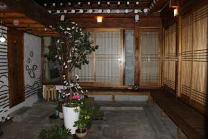 The lobby or reception area at Charm Hanok Guest House