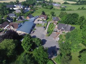 Blick auf Gästehaus Hansen aus der Vogelperspektive
