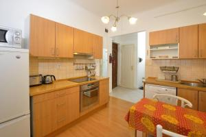 A kitchen or kitchenette at Andrassy Downtown Apartment