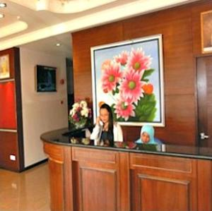 The lobby or reception area at Hotel Remix