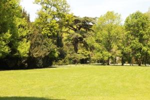 A garden outside Chateau Castelrives