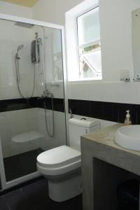 Ванная комната в Hotel Tobiko