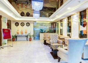 The lobby or reception area at Treebo Tryst SC Residency