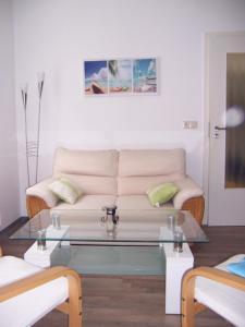 Ein Sitzbereich in der Unterkunft Ferienwohnung im Paulusviertel