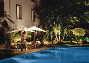 The swimming pool at or near Trident Cochin