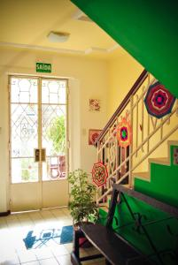 The lobby or reception area at Poa Eco Hostel