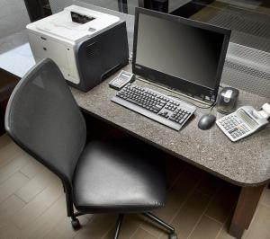 The business area and/or conference room at Hampton Inn Cleveland-Downtown
