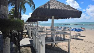 Uma varanda ou outra área externa em Amigos do Marinas Tamandaré Beira-Mar