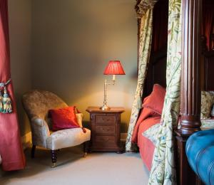 A seating area at Castle House B and B