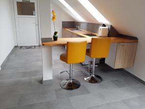 Küche/Küchenzeile in der Unterkunft Ferienzimmer Jasna