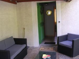 A seating area at Les Gardettes