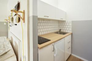 Kuchyňa alebo kuchynka v ubytovaní Vlnka Apartments