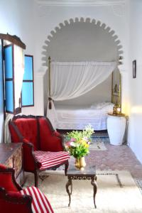 A seating area at Riad Khmisa