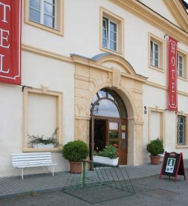 The facade or entrance of Hotel Tynec