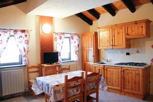 Cucina o angolo cottura di Casa Chamonin