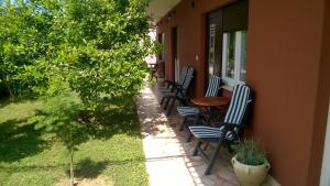 A patio or other outdoor area at Dadule Apartments