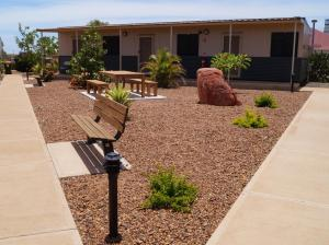 A porch or other outdoor area at Karratha Lodge TWA